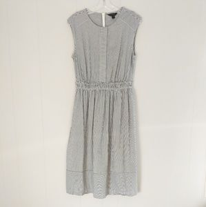 J. Crew Gray & White Striped Dress Size 8T